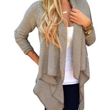 Loose Irregular Leisure Ladies Knit..
