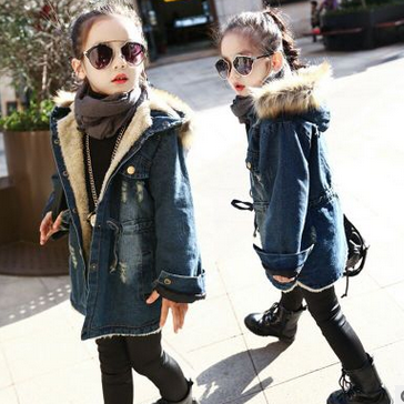 New girls jean jacket cuhk children..