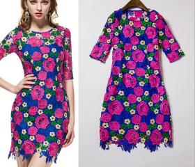 2015 Spring And Summer Women's Boutique In The Sleeve Dress