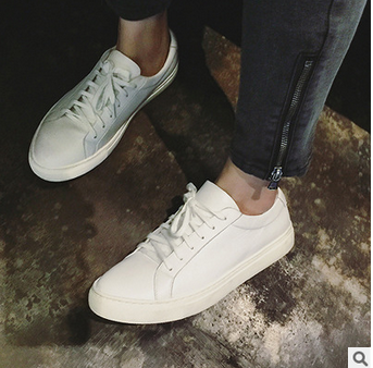 Minimal Leather Trainers in White