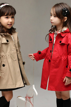 Girls long coat dust coat