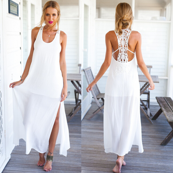 Strappy White Dress LB